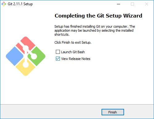 Instalasi Git Selesai