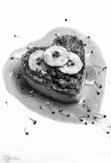 Püree mit Kochbanane Polenta Brokkoli