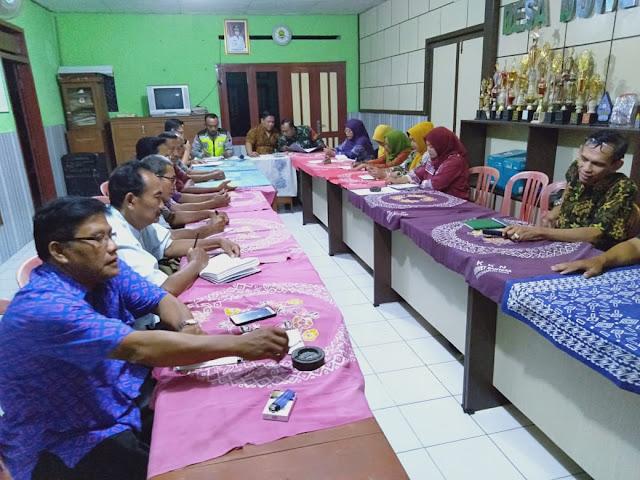 Babinsa Wonosari Aktif Ikuti Rapat Di Wilayah Binaan