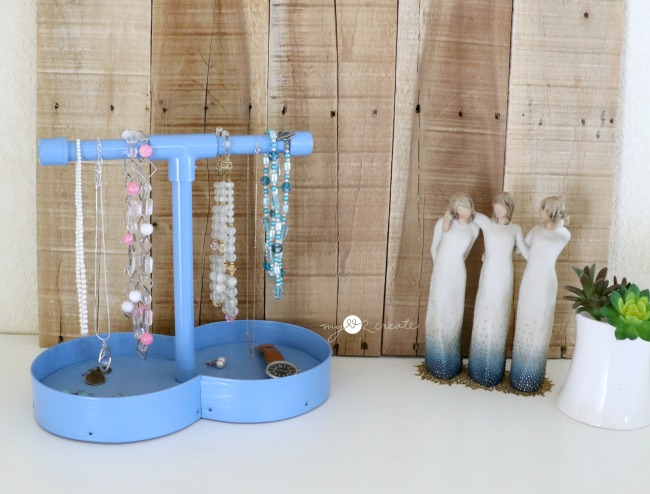 pvc pipe jewelry holder