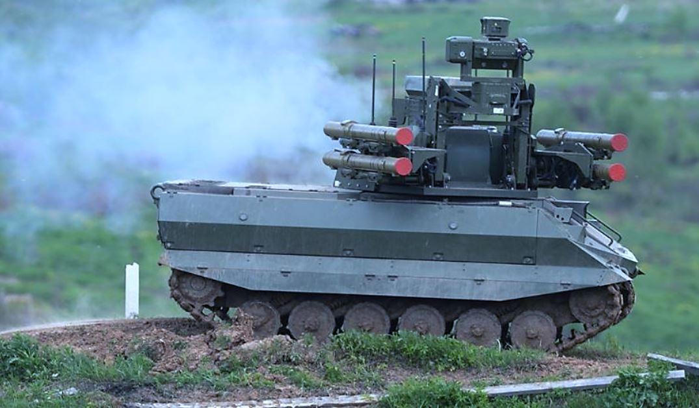 Russian Uran-9 Robot Tank