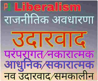 राजनीतिक अवधारणा उदारवाद, नव उदारवाद, Liberalism, udarvad