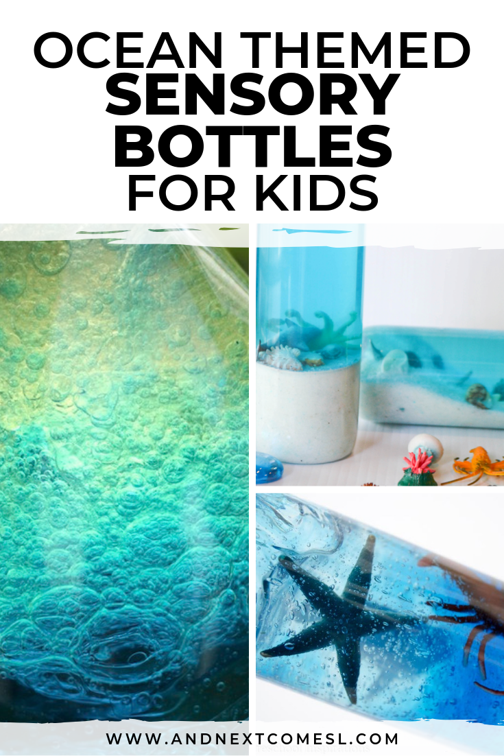 Ocean sensory bottles for kids - how to make them for your child's calm down corner