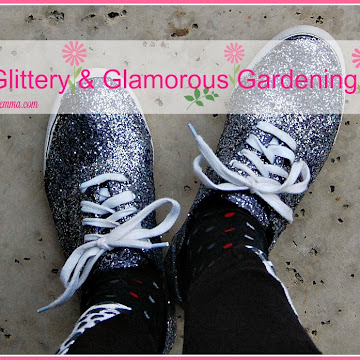 How To Make Glittery and Glamorous Gardening Shoes