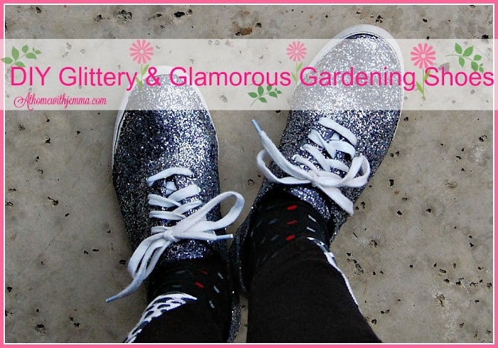 DIY Glittery & Glamorous Gardening Shoes