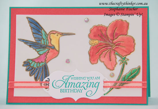 #thecraftythinker  #stampinup  #cardmaking  #SAB #saleabration2019 #hummingalong , Humming Along, Stained Glass technique, Sale-A-Bration, Occasions Catalogue 2019, Stampin' Up Australia Demonstrator, Stephanie Fischer, Sydney NSW
