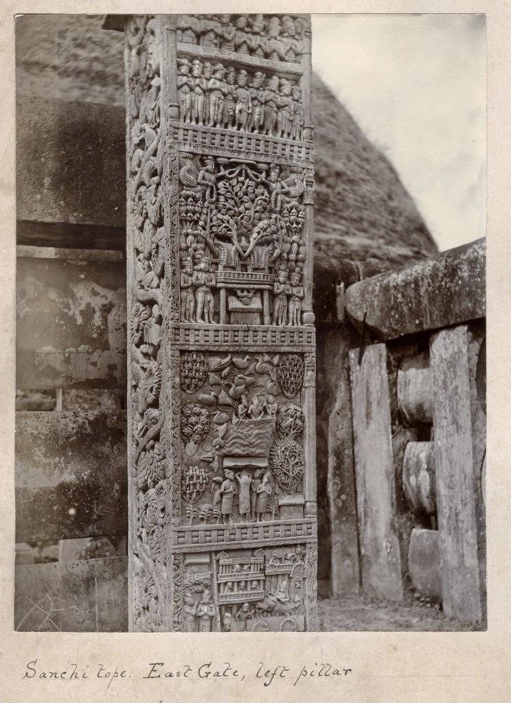 Sanchi Stupa east gate left pillar details