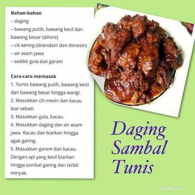 Daging Sambal Tumis, Resepi, Recipe, Resepi Daging Sambal Tumis, Menu Raya, Menu Hari Raya, Juadah Hari Raya, Raya 2019, Selamat Hari Raya,