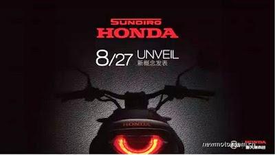 Teaser Honda Sport Klasik dengan Lampu LED Setengah Lingkaran