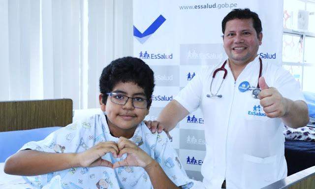 Proeza médica salvó a niño tras extraer tumor del corazón