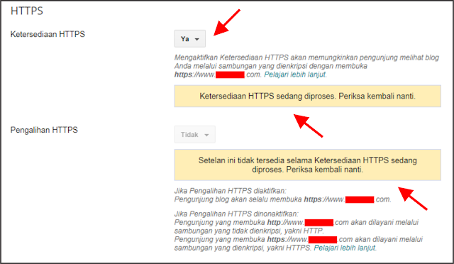 Cara Mengaktifkan HTTPS untuk Custom Domain di Blogger.com