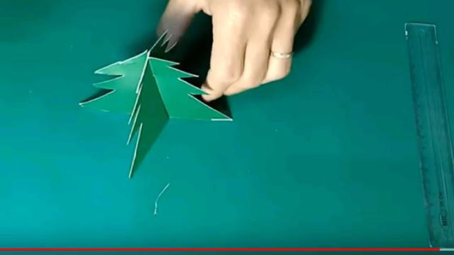 Cách làm cây thông noel bằng giấy