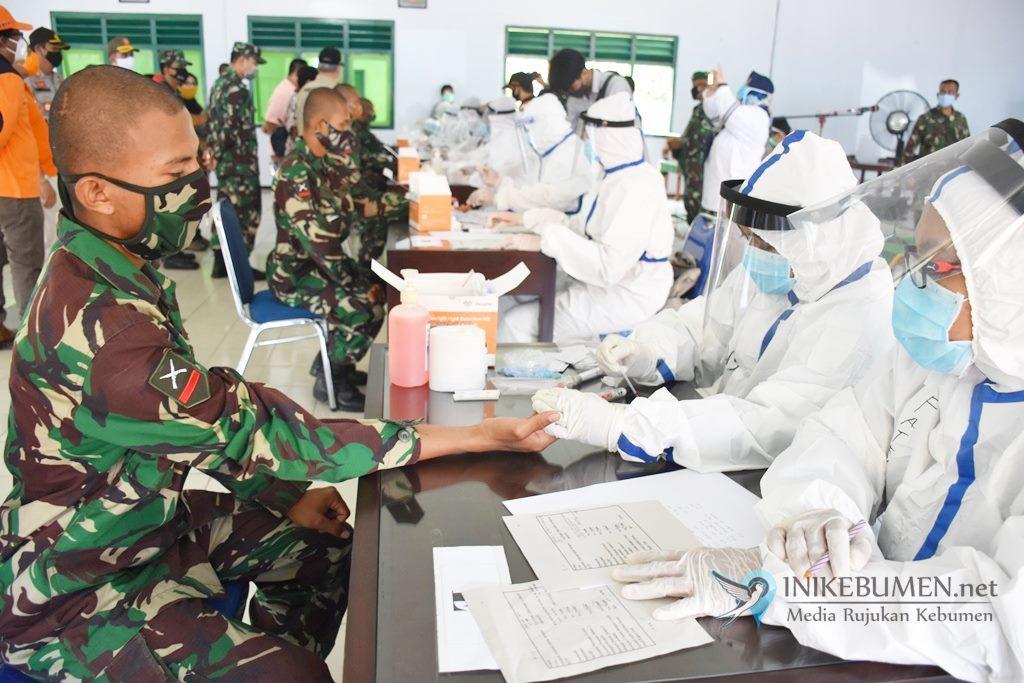 Ratusan Calon Prajurit TNI AD di Gombong Jalani Rapid Test Covid-19
