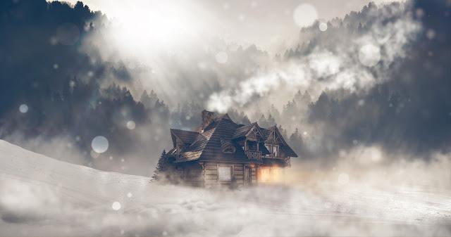 Dům v zimě