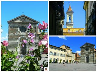 Collage di immagini di San Francesco con Facciata e Campanile