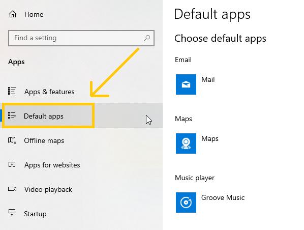 setting chrome as default web browser
