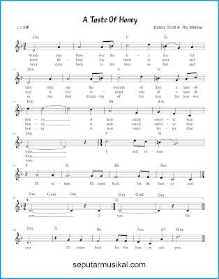 A Taste of Honey chords jazz standar