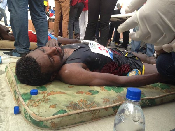 Pics: Marathon Runners who Passed Out after the Race #LagosMarathon