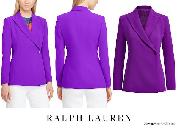 Princess Stephanie wore Ralph Lauren Purple Belinda Side-button Blazer