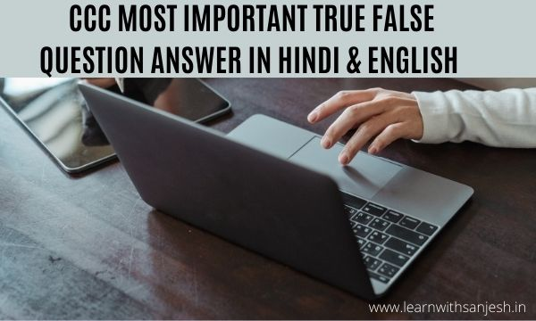 CCC True False Question Answer pdf download, CCC Internet Question and Answer pdf, CCC Exam Preparation in Hindi / English