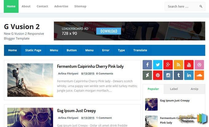 Google SEO Friendly Blogger Template