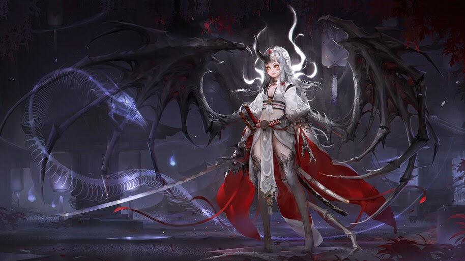 Anime, Demon, Girl, 4K, #6.1008