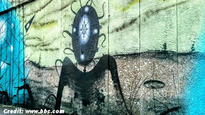 UFO, Known as 'The Warminster Thing' Immortalised in a Mural