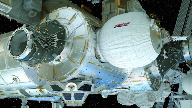 This artist's concept depicts the Bigelow Expandable Activity Module (BEAM), constructed by Bigelow Aerospace, attached to the International Space Station (ISS). Credit: Bigelow Aerospace