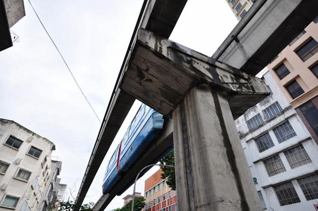 Monorail at Jalan Tuanku Abdul Rahman