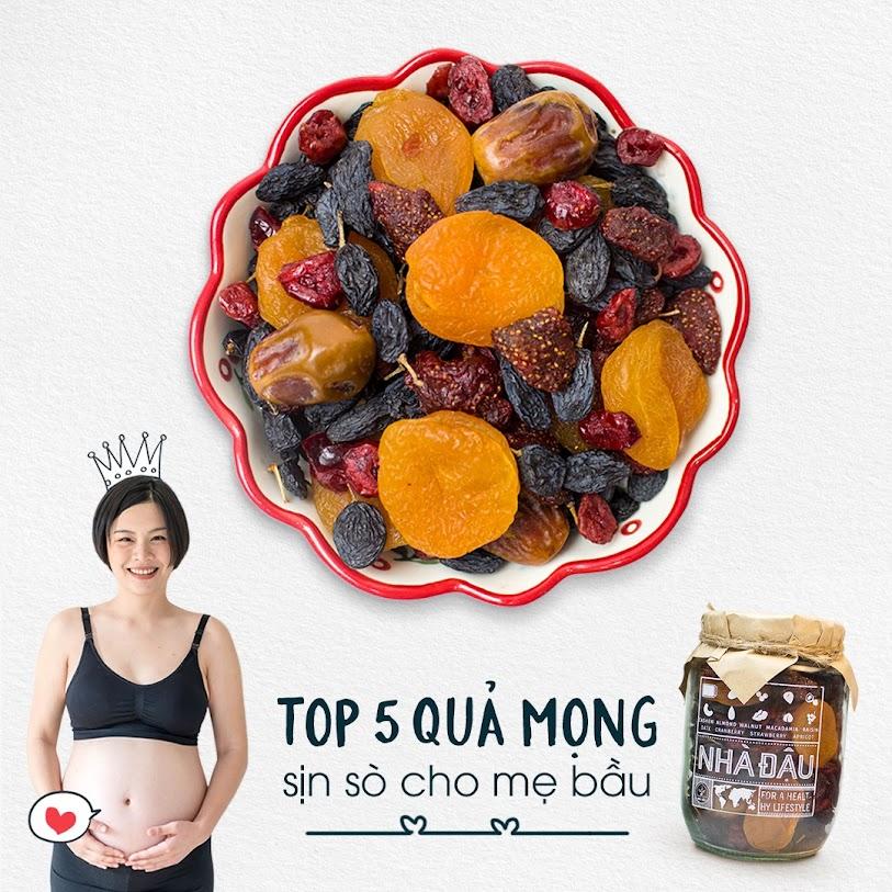Chế độ dinh dưỡng mới mang thai ăn vào Con