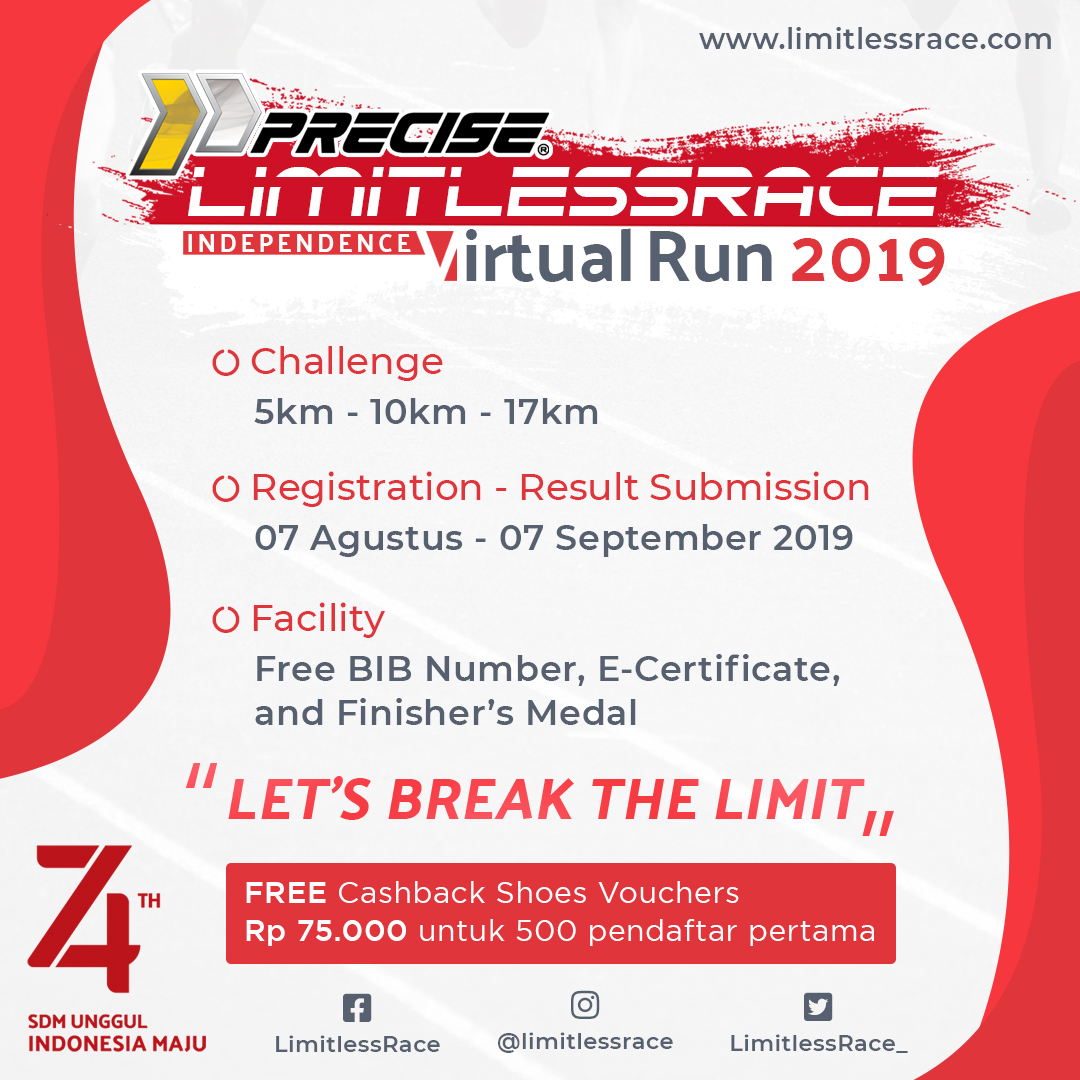 PRECISE-Limitless Race - Independence Virtual Run • 2019