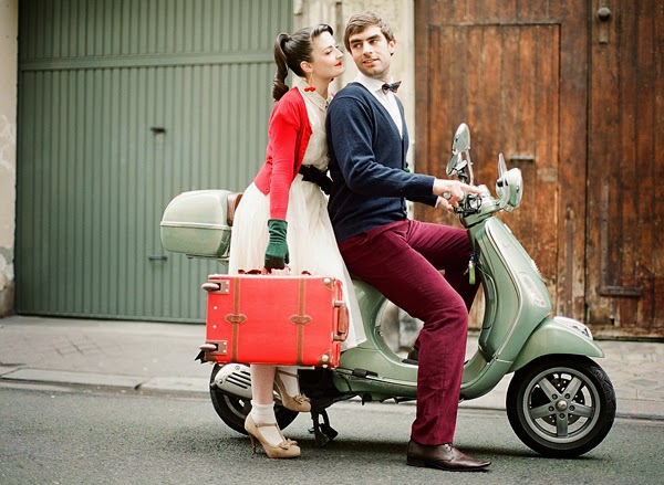 Fotos boda retro vespa