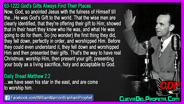 The Gift of God to the world - William Branham Quotes