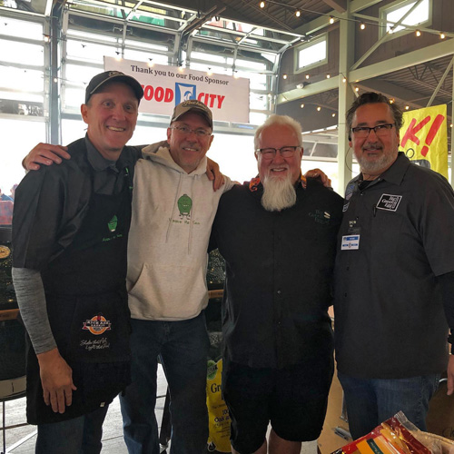 Chris Grove, John Makela, Ray Lampe and Harold Stockburger at the 2019 Scenic City Eggfest