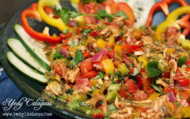 Pulled Barbecue Chicken Salad