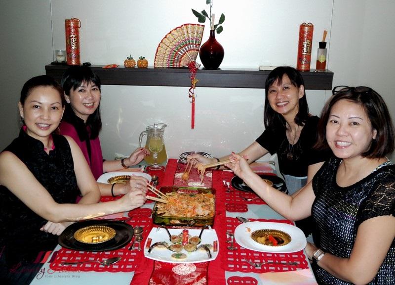 luxury haven lunar new year lohei yusheng