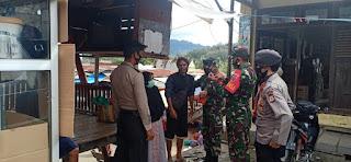 Patroli Polsek Baraka dan Koramil Dalam Penegakan Disiplin Protokol Kesehatan