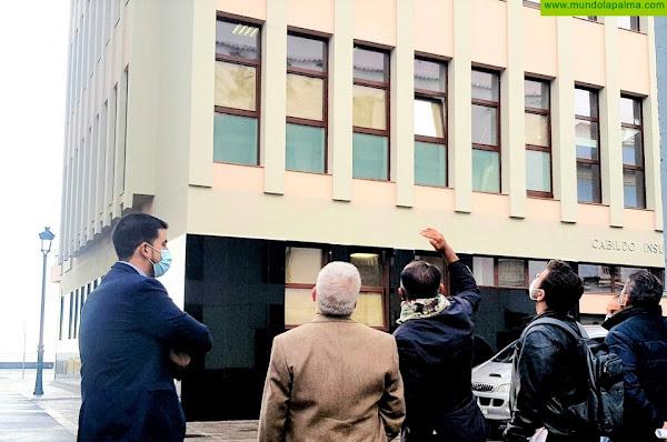 Concluyen las obras de rehabilitación del edificio central del Cabildo de La Palma