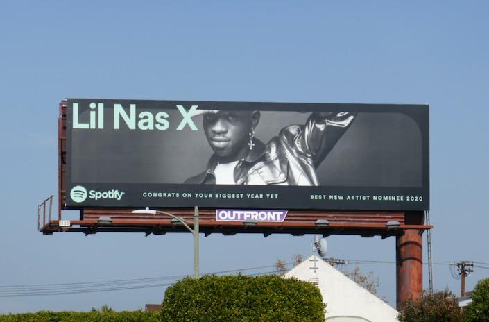 Lil Nas X 2020 nominee Spotify billboard