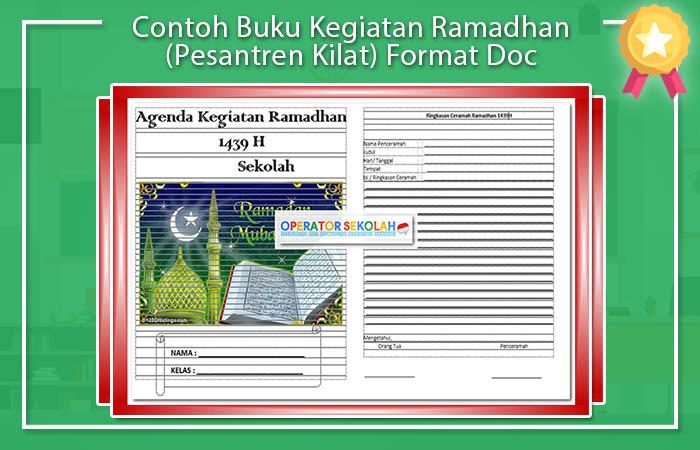 Contoh Buku Kegiatan Ramadhan