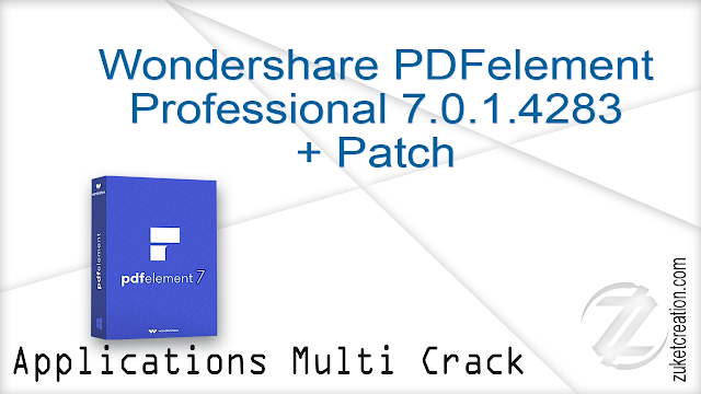 Wondershare PDFelement Professional 7.0.1.4283 + Patch  |  54 MB