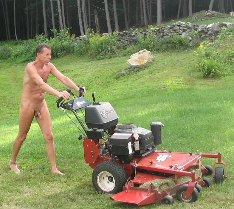 Apologise, can naked woman on riding lawnmower necessary try