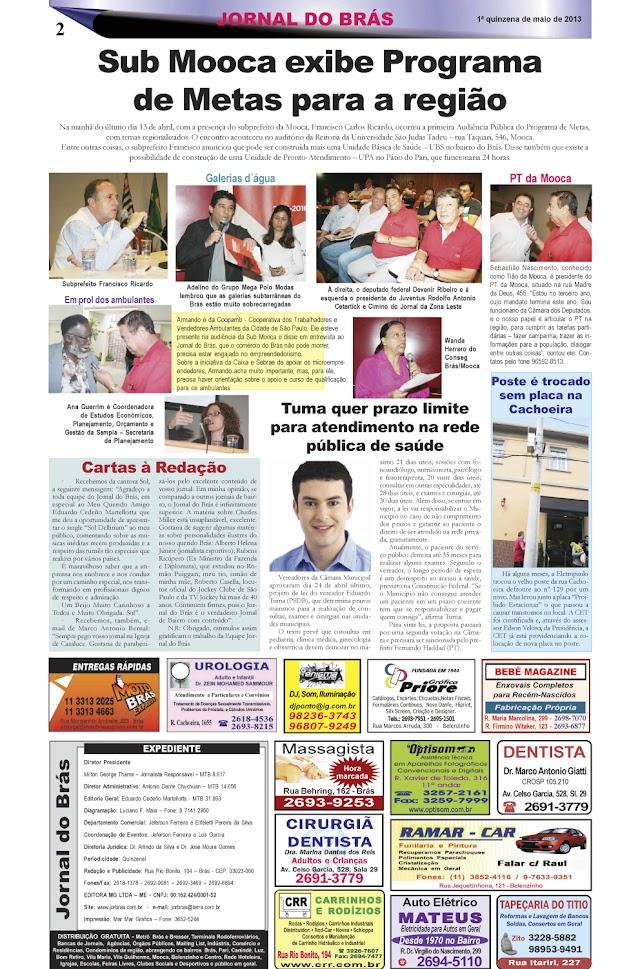 Destaques da Ed. 228 - Jornal do Brás