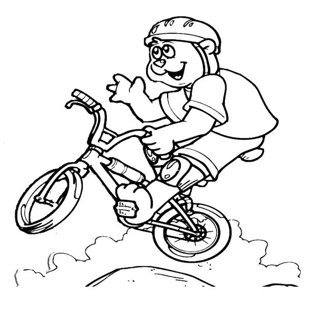 Gambar Mewarnai Bermain Sepeda - 5