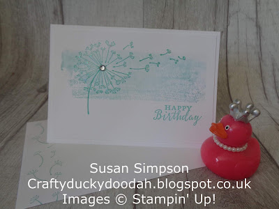 Craftyduckydoodah!, Dandelion Wishes, July 2018 Coffee & Cards Project, Stampin' Up! UK Independent  Demonstrator Susan Simpson, Supplies available 24/7 from my online store,