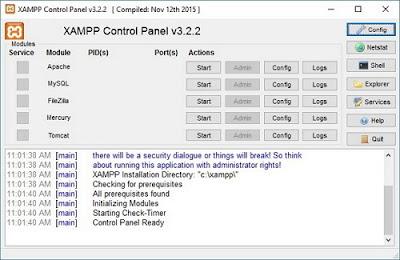 bagian bagian penting XAMPP - Pengertian  Fungsi Dan Bagian-Bagian  Xampp