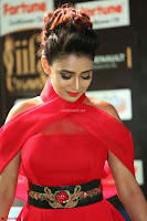 Apoorva in a Stunning Tight Leg Split Sleeveless Red Gown at IIFA Utsavam Awards 37.JPG