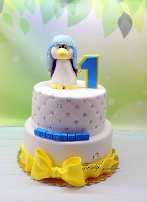 tort z pingwinkiem