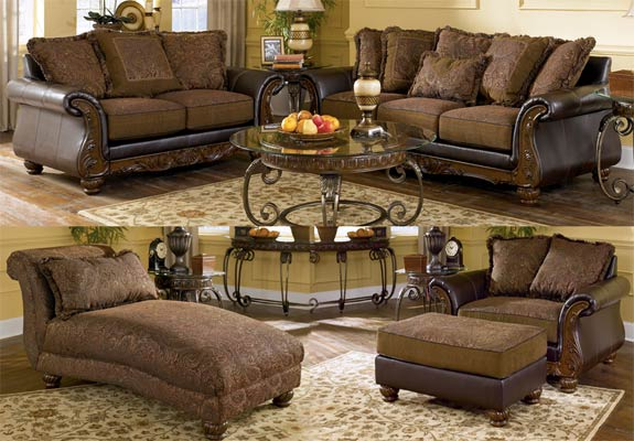 room set ashley traditional furniture north shore living room set