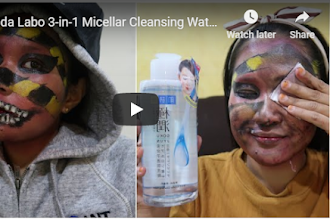Tonton Video : Hada Labo 3-in-1 Micellar Cleansing Water removed my SFX Makeup !